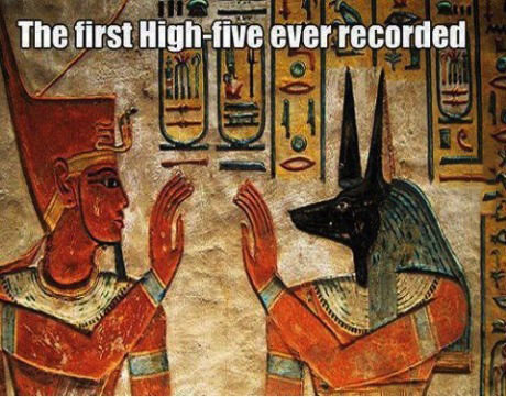 egyptian, high five, wall paintings, history