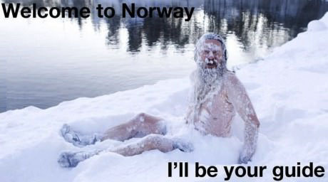 norway, guide, snow, crazy old man