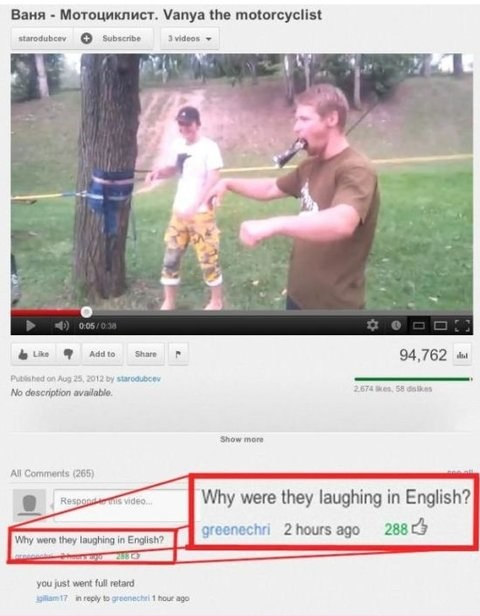 youtube, comments, laughing, english, fail, stupid