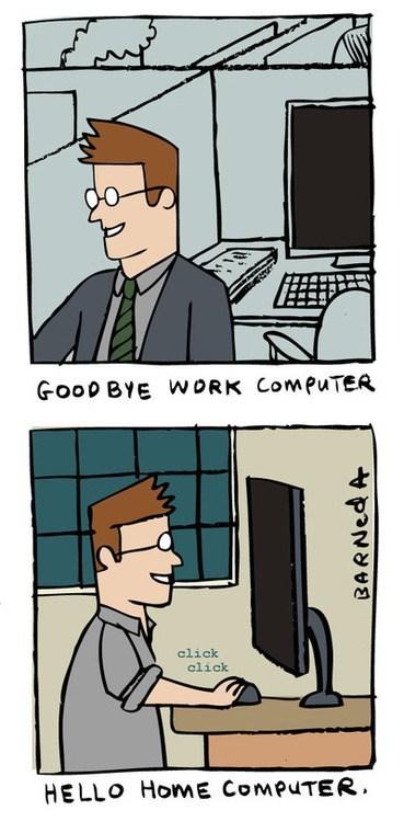 computer, work, home