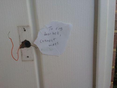 door bell, wires