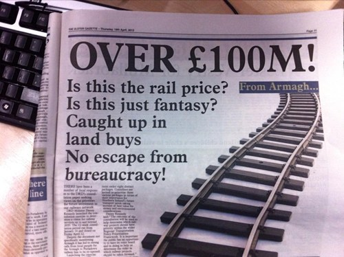 newspaper, song lyrics, queen, rail