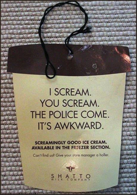 ice cream, scream, product, label, funny