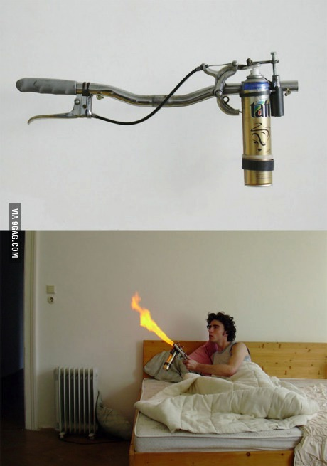 flame thrower, fly, mosquito killer