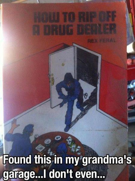 book, wtf, drug dealer, rip off