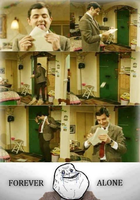 mr bean mails himself a letter, forever alone, letter