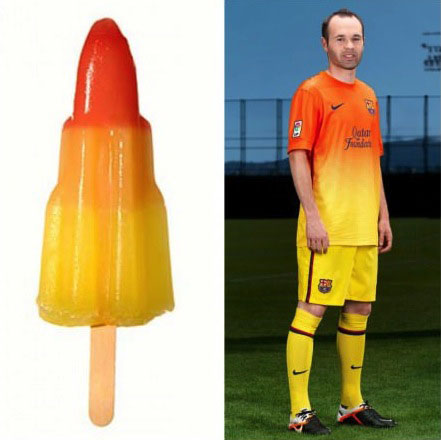 this soccer uniform totallylookslike a popsicle