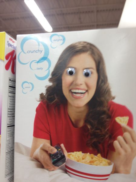 cereal, ad, googley eyes