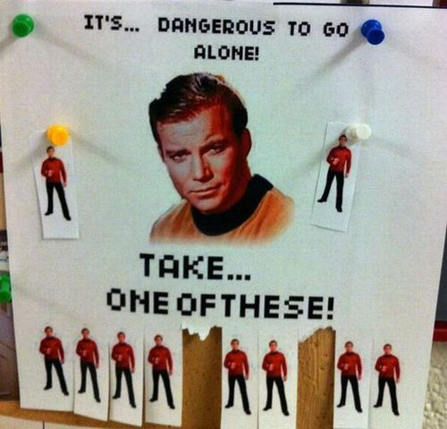 star trek, red shirt, take one, poster, paper