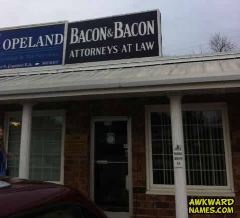 law firm, bacon, name, wtf