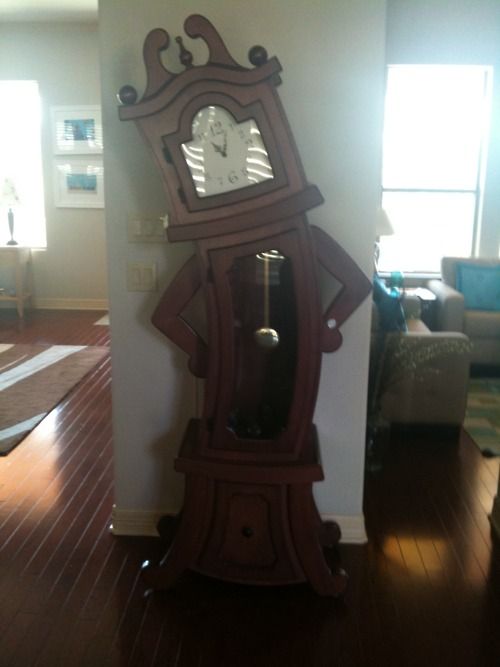 grandfather clock is judging you, wtf