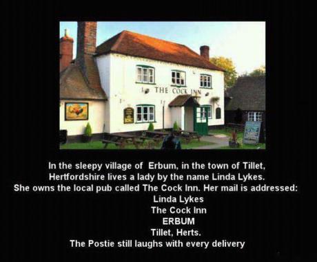 address, story, suggestive, the cock inn