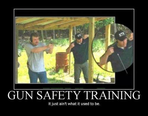 gun safety, plug ears, wtf, fail, motivation