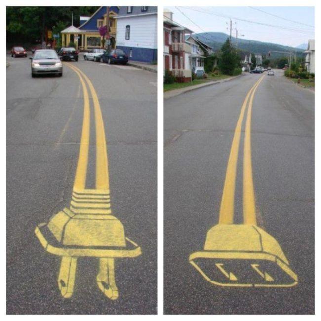 street, art, plug