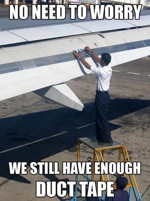 plane, meme, duct tape