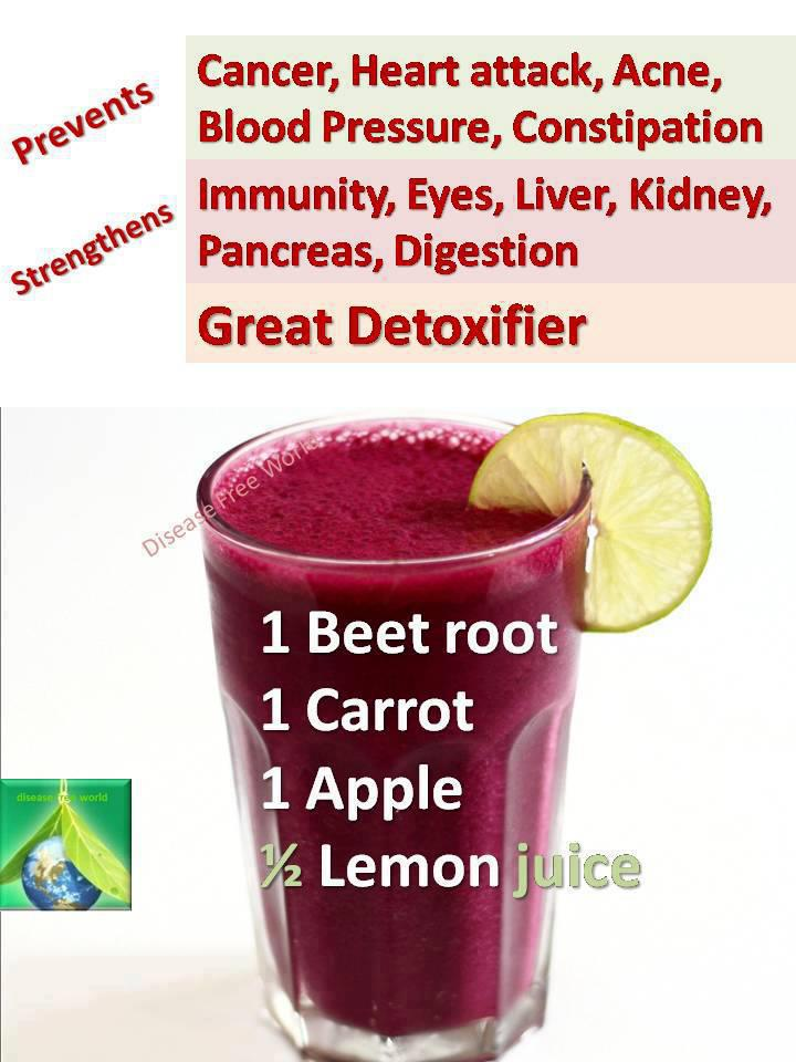 miracle drink, beet root carrot apple and lemon juice, health food, healthy smoothie, life hack