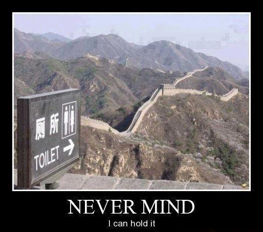 sign, great wall of china, motivation, bathroom