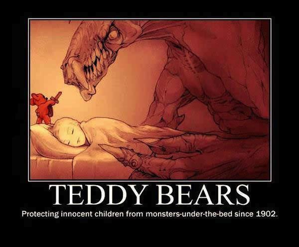 meme, teddy, bears, nightmares, monsters
