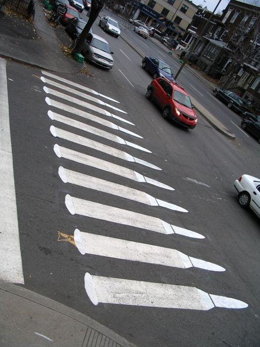street, hacked irl, bullets, crosswalk