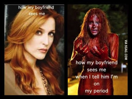 boyfriend, period, disgusting, blood
