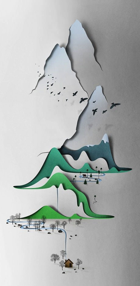 paper, art, sculpture, cut out