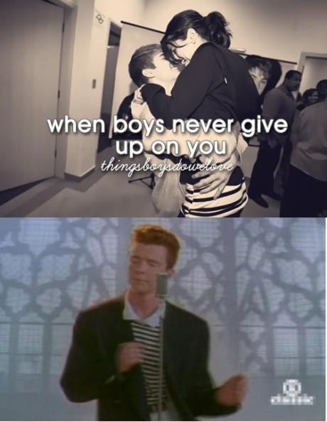 thingsboysdowelove, give up, never, boys