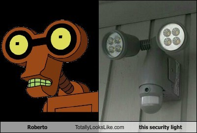 totallylookslike, roberto, futurama, security light