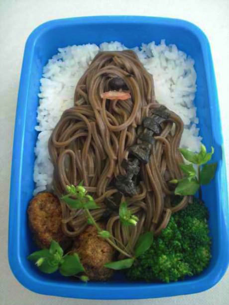 rice, noodles, art, food, star wars, chewy