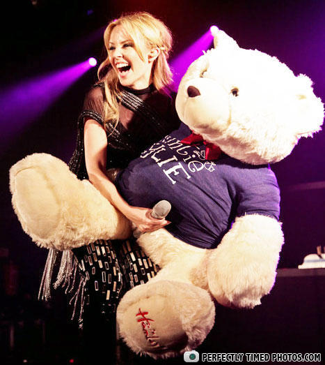 stage, microphone, stuffed bear, timing