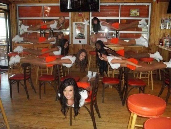 planking, hooters, women