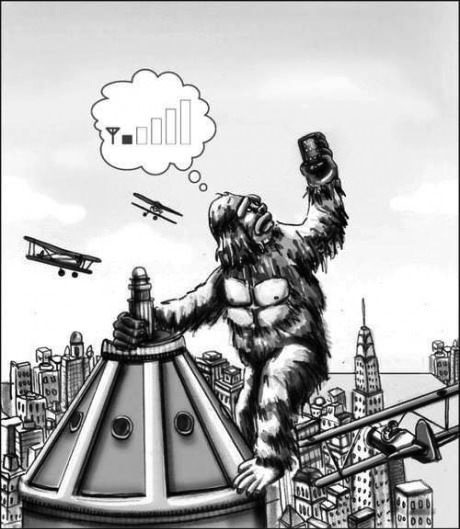 king kong, cell phone reception, misunderstood