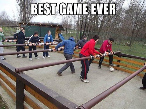 meme, game, foozball, table soccer, babyfoot