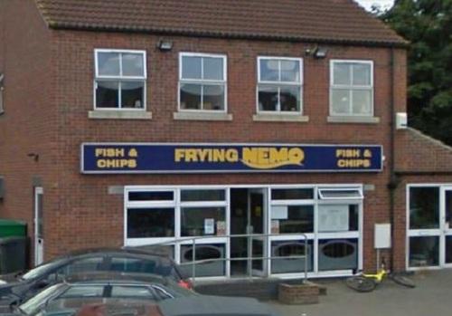 finding nemo, restaurant, sign, name, win