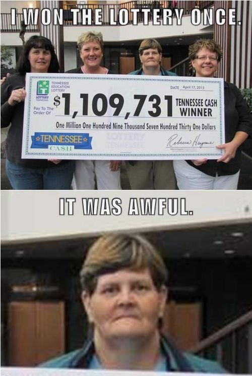 lottery, awful, won, face, photobomb, giant cheque