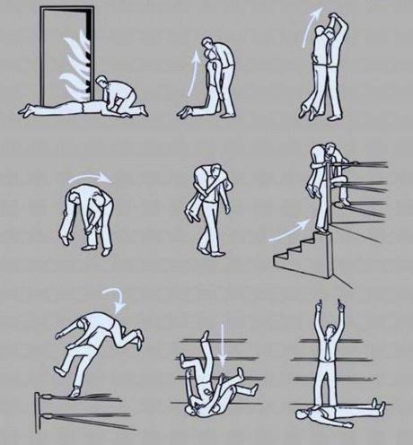 fire, instructional art, wrestling