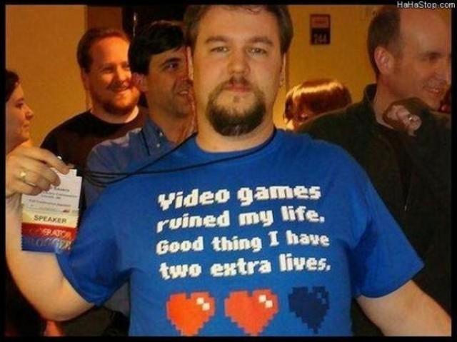 video game, tshirt, lives