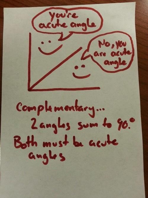 geometry, math, angles, acute, complimentary