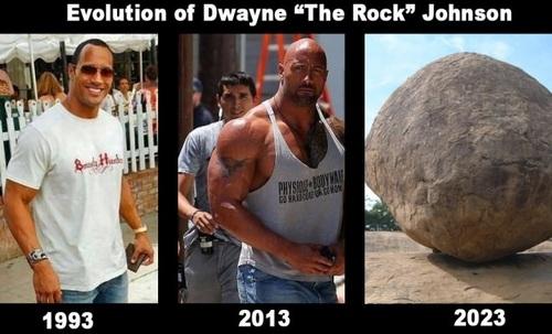 dwayne johnson, the rock, evolution