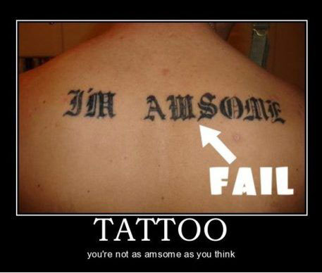 tattoo, fail, amsome, motivation