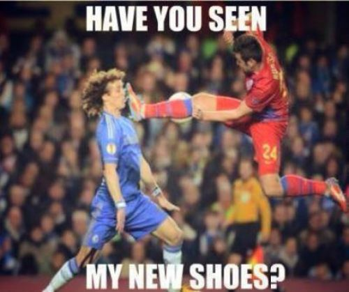 have you seen my new shoes?, soccer kick to the face, timing