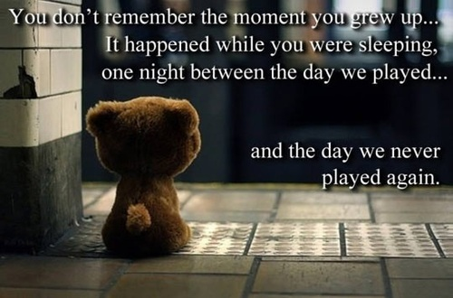 stuffed animal, bear, childhood, grown up