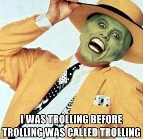 the mask,  jim carrey, troll, meme