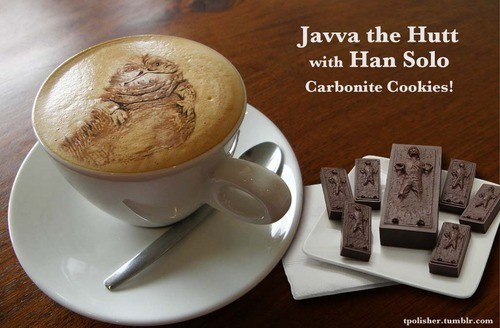 coffee, win, star wars, biscuits, han solo carbonite cookies