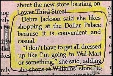 newspaper, walmart, dollar store, wtf