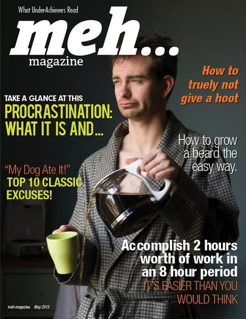 magazine, parody, lazy, meh