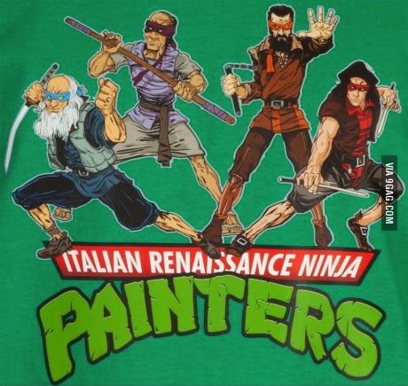tmnt, art, painters, italian renaissance ninja