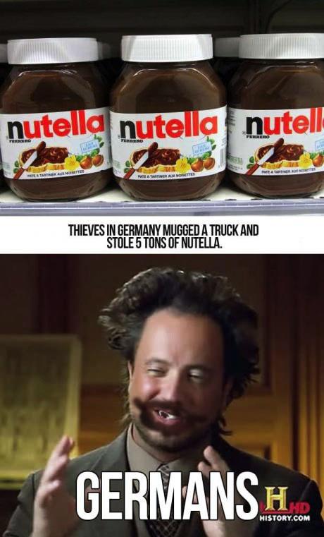 nutella, germans, meme
