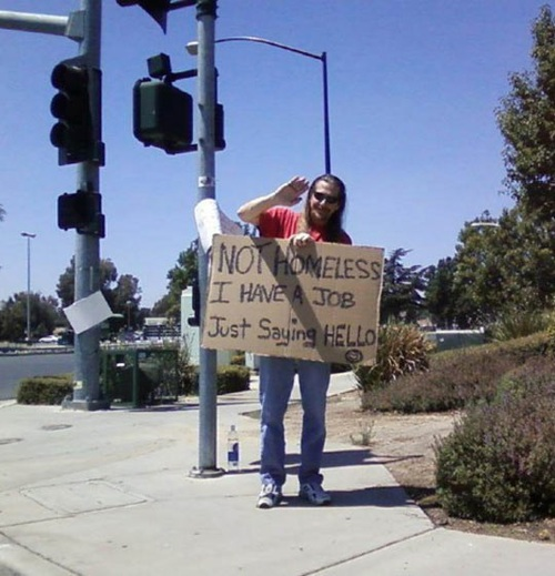 homeless, not, sign, lol, hello
