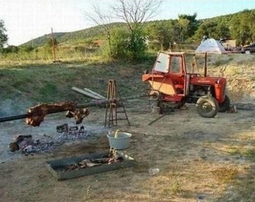 tractor, rotisseri, food, engineer, wtf