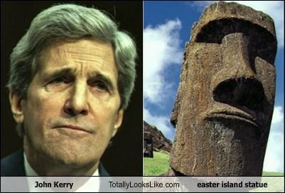 totallylookslike, john kerry, easter island statue